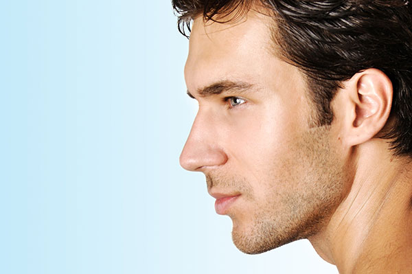 Profile of man with straight nose - Rhinoplasty Procedure